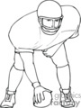 football player players   sport038_bw clip art sports football  gif
