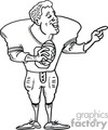 football nfl player players team sport sports american quaterback   football008_ssbw clip art sports football  gif, jpg
