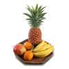 Fruit on a wooden platter