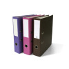 black pink and blue binders