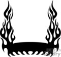 flames fire border frame badge tattoo graphic vinyl cutter symmetrical silhouette banner