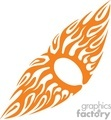 0007 symmetric flames vector clip art image