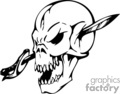 skull bone head skeleton tattoo art vinyl sword gif, jpg, eps