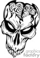 skull bone head skeleton tattoo art vinyl gif, jpg, eps