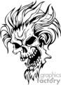 evil skull design
