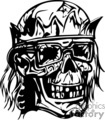 zombie king crown on a skull
