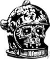 zombie astronaut skull