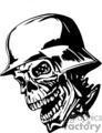 zombie wearing a german nazi helmet