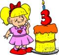 birthday girl turning 3