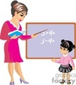 A Teacher is Teaching a Student Math