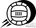 black and white volleyball  gif, png, jpg, eps