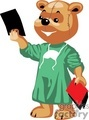 Teddy bear doctor reviewing some xrays