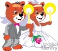 marriage teddy bears holding candles