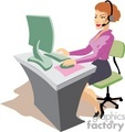 vector girl secretary