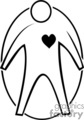vector clip art vinyl-ready cutter black white medical health heart patient gif, png, jpg, eps
