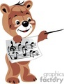 teddy bear teddybear teddybears bears toy toys stuffed music class mistro teacher school notes conductor maestro gif, png, jpg, eps