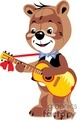 Teddy bear playing a guitar