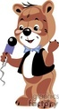 singing teddy bear with microphone gif, png, jpg, eps