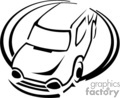 vector clip art vinyl-ready cutter black white car cars auto automobile vehicle vehicles
