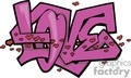 graffiti love tag