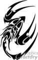 tribal scorpion vector clip art image