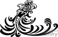 Black and white tribal art of bird