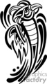Black and white tribal art of rising phoenix, right-facing