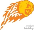 orange flaming cougar
