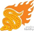 orange flaming snake