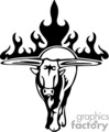 animal animals flame flames flaming fire vinyl-ready vinyl ready hot blazing blazin vector eps gif jpg png cutter signage black white bull bulls gif, png, jpg, eps