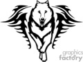 animal animals flame flames flaming fire vinyl-ready vinyl ready hot blazing blazin vector eps gif jpg png cutter signage black white dog dogs wolf wolfs