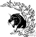predator predators animal animals wild vector signage vinyl-ready vinyl ready cutter black white cat cats panther panthers fire fires flaming flames flame tattoo tattoos design designs