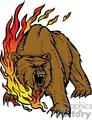 bear in fire gif, png, jpg, eps