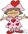 little girl in her Valentines dress