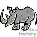 Cartoon Rhinoceros