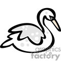 Cartoon Swan