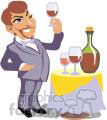 waiter w/  wine cart
