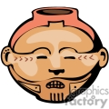 indian indians native americans western navajo head face pottery vase vector eps jpg png clipart people gif gif, png, jpg, eps