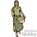 indian indians native americans western navajo female basket baskets vector eps jpg png clipart people gif gif, png, jpg, eps