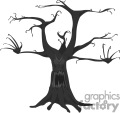 scary haunted tree with no leafs gif, png, jpg, eps