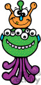 two little alien monsters gif, png, jpg, eps