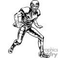 Quarterback dodging tackles