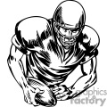 Quarterback starting the play