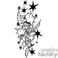 plant tattoo design with spikes