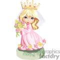 A Blonde Hair Blue Eyed Wearing Pink Little Princess