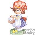 Little Blue Eyed Girl Wearing a Red bonnet Holding a Basket