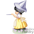 a little girl wearing a witches hat pointing a wand gif, png, jpg, eps