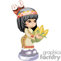little native american girl holding corns  gif, png, jpg, eps