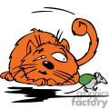 mouse carrying a bag of food by a big cat gif, png, jpg, eps