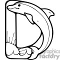 Letter D Dolphin